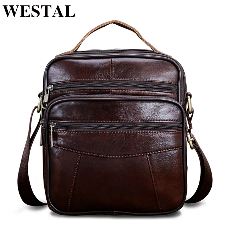 WESTAL Messenger Bag Men Shoulder Bags Genuine Leather Bag Men Small ipad Male Flap Casual Crossbody Bags for Men Handbags 8318 tianhoo genuine leather men bags flap messenger bag men s small briefcase man casual crossbody bags shoulder handbags