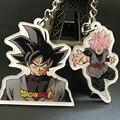 Fancy&Fantasy Anime Dragon Ball Super Acrylic keychain Goku Black Zamasu Key Chains Super Saiyan Rose Phone Bag Pendant Keyring