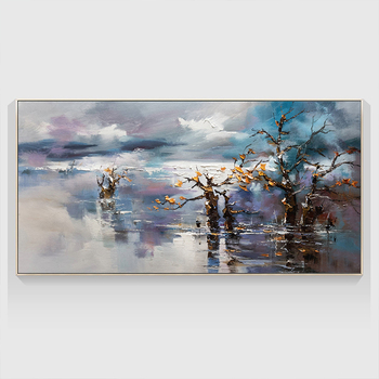 100% Hand Painted Abstract Scenery Art Oil Painting On Canvas Wall Art Frameless Picture Decoration For Live Room Home Deco Gift