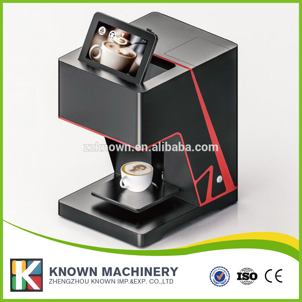 Coffee printer machine Wifi connection phone operate food inkjet coffee cake printer with popular brown color футболка toy machine leopard brown