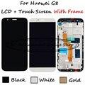 Branco/preto/ouro para huawei g8 gx8 rio-l01 rio-l02 rio-l03 display lcd + touch screen substituição digitador assembléia com frame
