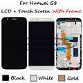 White/Black/Gold For Huawei G8 GX8 RIO-L01 RIO-L02 RIO-L03 LCD Display + Touch Screen Digitizer Assembly Replacement With Frame