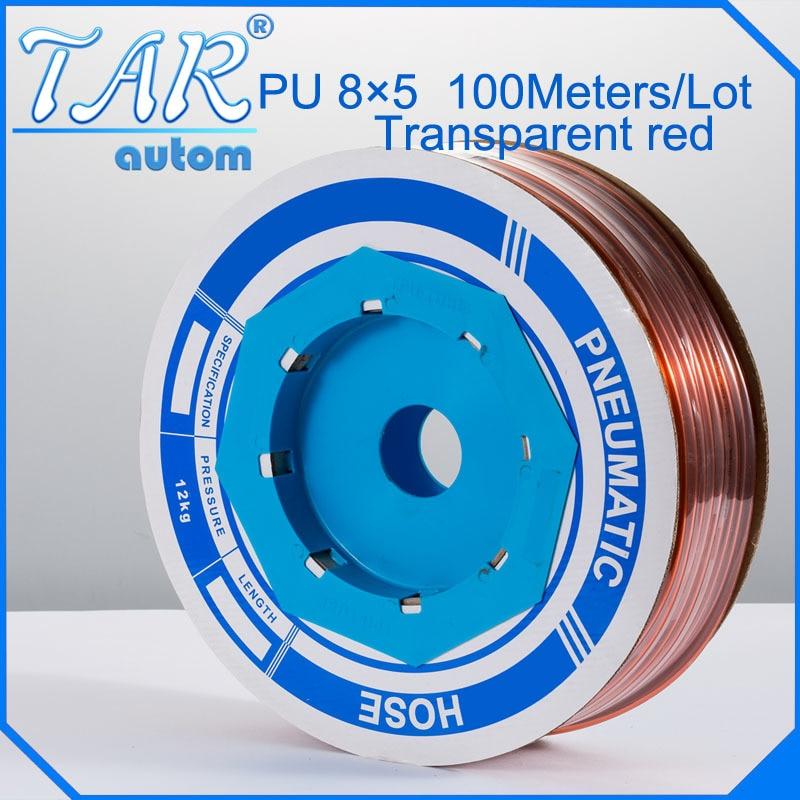 PU Tube 8mm*5mm (100meter/roll) pneumatic tubes pneumatic hoses Polyurethane tube plastic hose air hose PU pipe PU hose golden цена