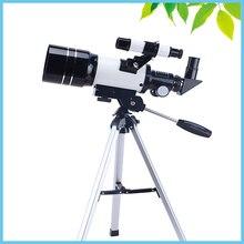 Профессиональные Показатель Астрономический Телескоп со Штативом HD Монокуляр Зрительная труба 300/70 мм Telescopio Подарок Детям