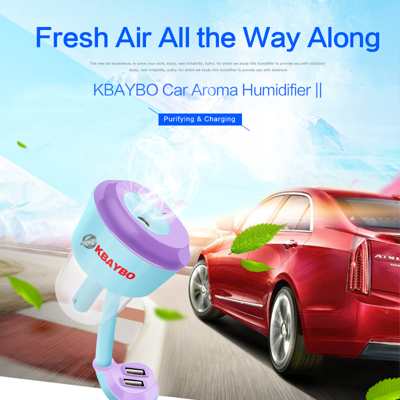 Upgraded Car Humidifier Air Purifier Aroma Diffuser Essential Oil Diffuser Aromatherapy Mist Maker Fogger Car Accessories цена