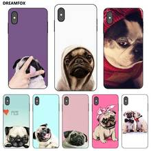 P173 Pug Black Silicone Case Cover For Apple iPhone 11 Pro XR XS Max X 8 7 6 6S Plus 5 5S SE