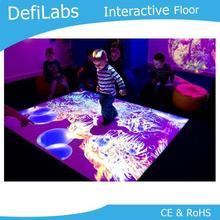 Интерактивная система проекции пола DefiLabs также может быть отображена на столе
