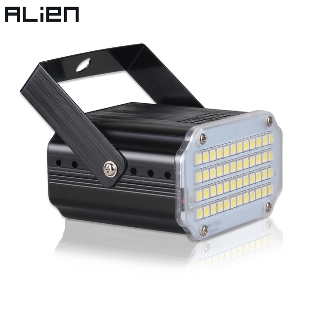 ALIEN 48 светодиодный RGB UV Белый стробоскоп освещение дискотечное DJ вечеринка, праздник, Рождество Музыкальный клуб звук активированная вспышк...