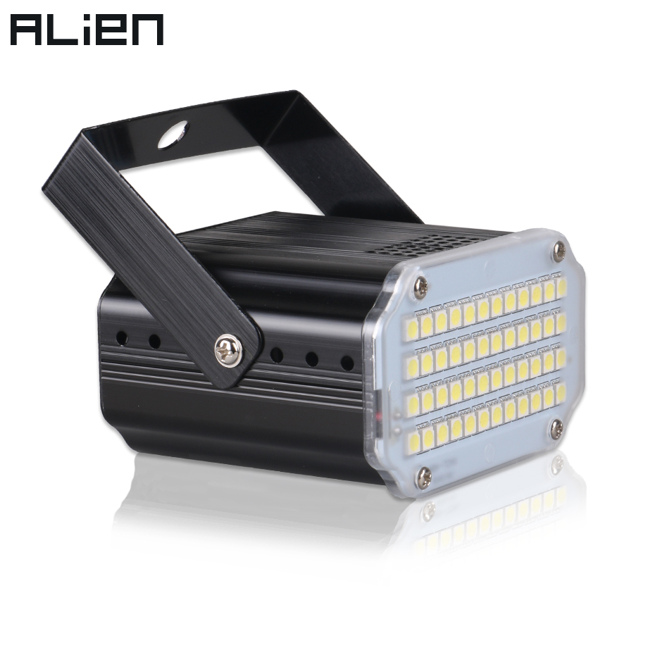 ALIEN 48 LED RGB UV Weiß Strobe Lichter Disco DJ Party Urlaub Weihnachten Musik Club Sound Aktiviert Flash-Bühne Beleuchtung wirkung