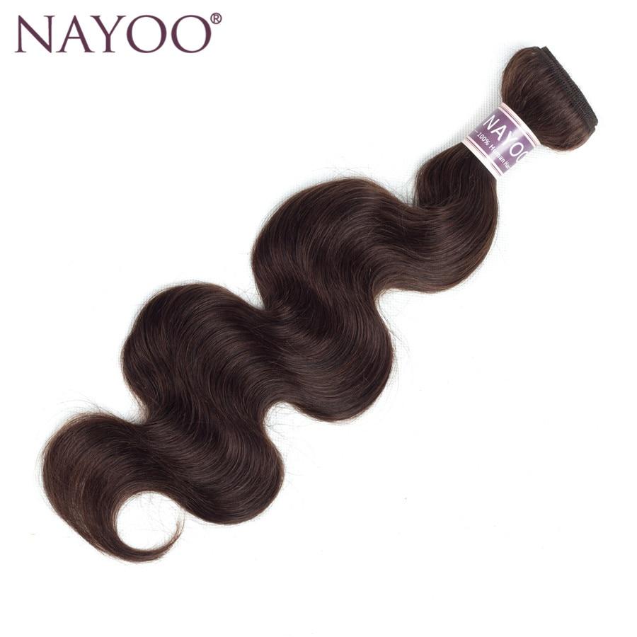 NAYOO Peruvian Hair Bundles Dark Brown #2 Body Wave Human Hair Weave Non-Remy 1 Piece Only Can Buy 3 or 4 Bundles
