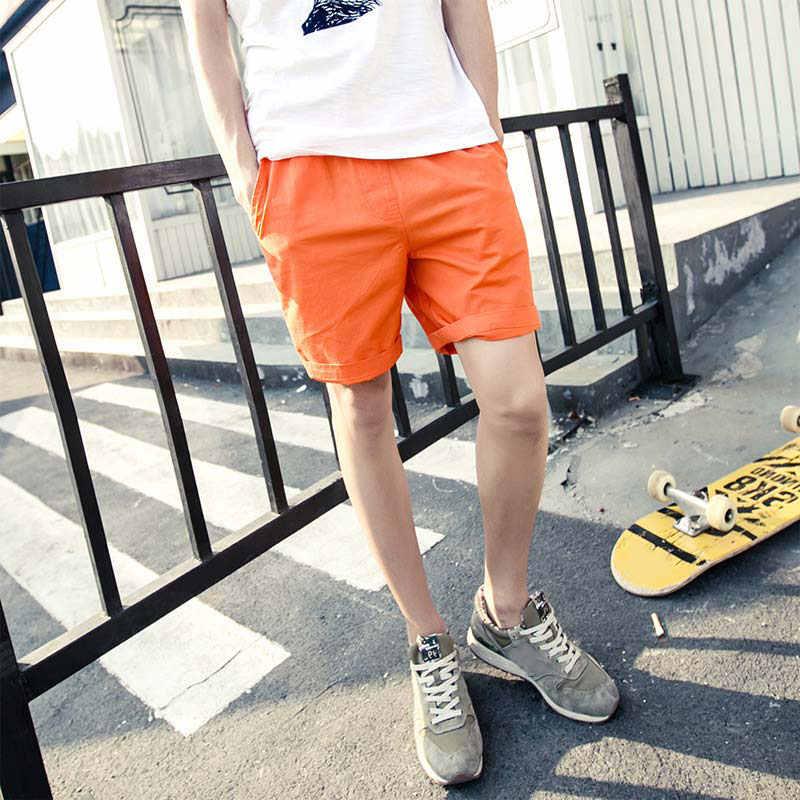 Moda bawełna spodenki na co dzień w pasie lato plaża cukierki kolor mężczyzna kobiet miłośników krótkie spodnie FS99