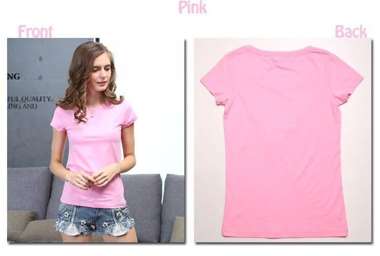 HTB1ZokoKXXXXXcHXVXXq6xXFXXXe - High Quality Plain T Shirt Women Cotton Elastic Basic T-shirts