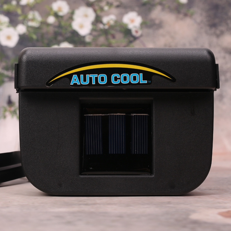new solar power car window fan auto ventilator cooler air vehicle radiator vent with rubber. Black Bedroom Furniture Sets. Home Design Ideas