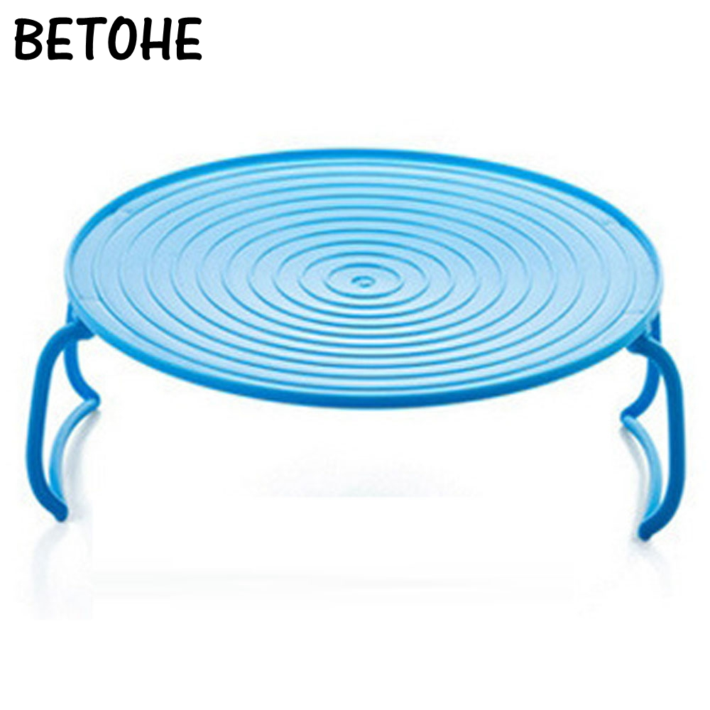 BETOHE Double-insulated Layered Dish Tray Microwave Steaming Rack Bowls Plastic Storage Shelf Tray Kitchen Pot Pad Cooking Tools