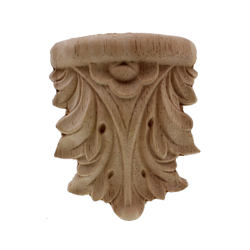 Runbazef Wood Carved Applique Unpainted Vintage Home Decor Style Fireplace Door God Stage Stigma Pillar Decoration Accessories