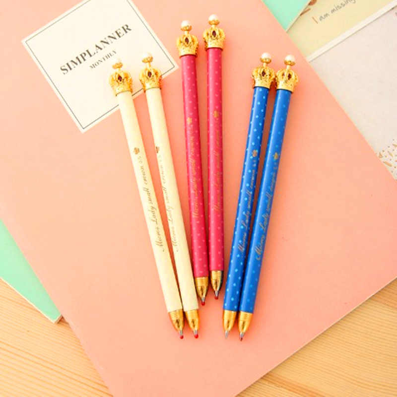 Kreative studenten schreibwaren Südkorea nette kleine reine und frische und krone prinzessin gel stift kugelschreiber automatische bleistift
