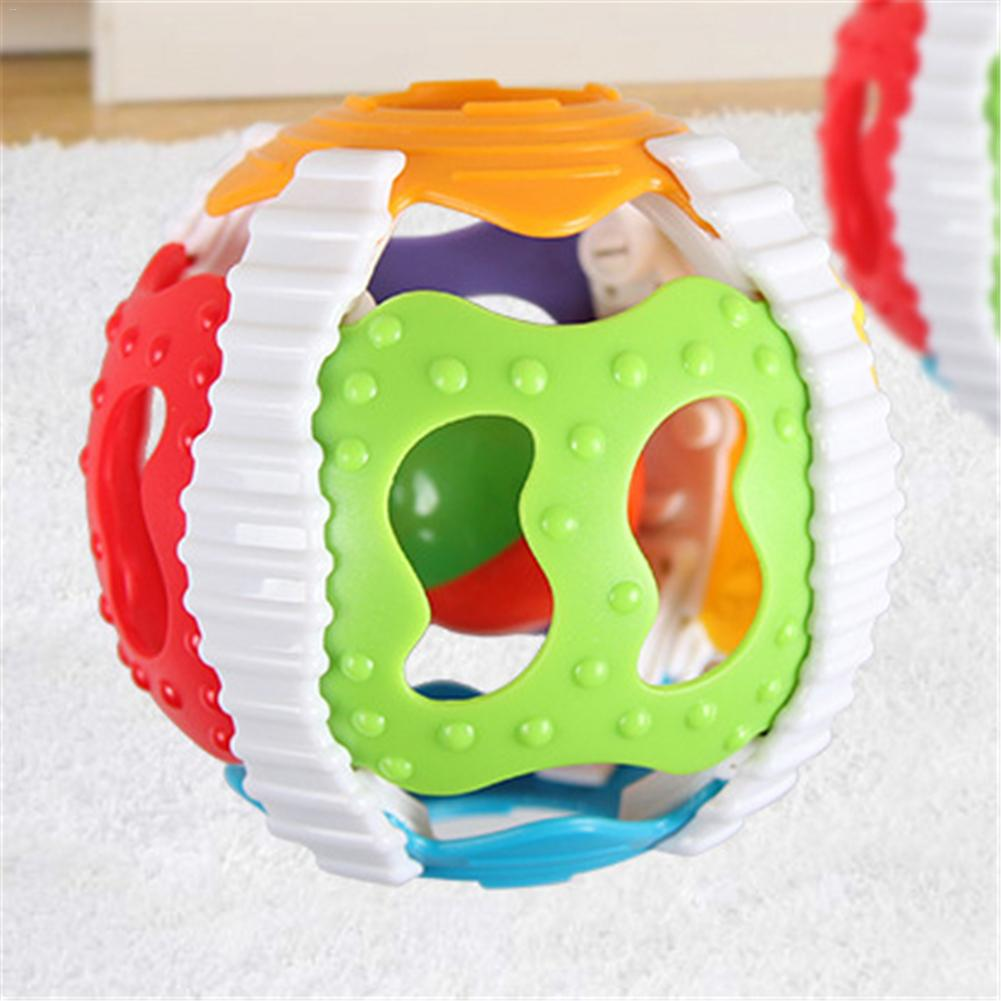 Soft Baby Rattles Little Loud Bell Ball Soft Rubber ABS Baby Musical Rattles Sound Bell Ball Infants Grasping Puzzle Toy