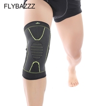 FLYBAZZZ 1PCS Fitness Running Cycling Knee Support Braces Elastic Nylon Gym Sport Compression Basketball Pad Sleeve for Men