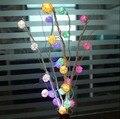 25 сушеные цветы рождественская елка свет главная гостиная мебель узел таиланд сепак Takraw длинные лю из светодиодов праздник света строка 110 - 220 В