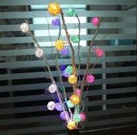 25 Dried Flowers Tree Light Home Living Room Furnishings Knot Thailand Sepak Takraw Long Liu LED