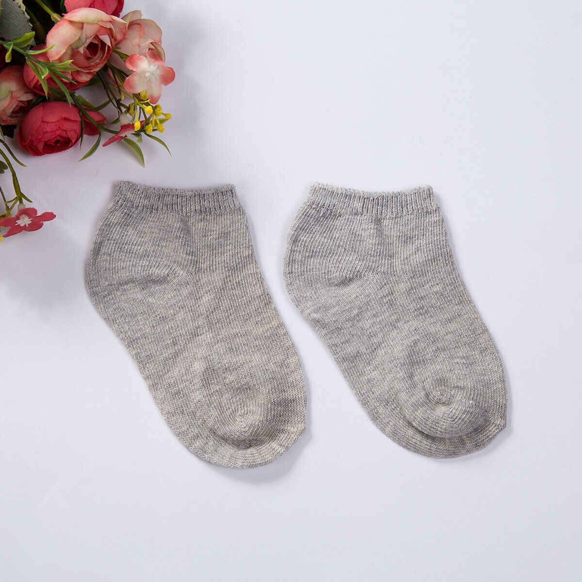 2019 新生児靴幼児の靴下ノンスリップソフト綿ボトム子綿の床靴下夏ソフトかわいい 1 組固体