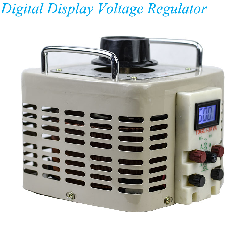 Digital Display Voltage Regulator 220v Auto-coupled Contact AC With Output 0-250v Adjustable Voltage Power Supply TDGC2Digital Display Voltage Regulator 220v Auto-coupled Contact AC With Output 0-250v Adjustable Voltage Power Supply TDGC2