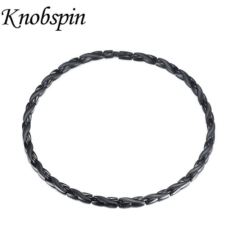 купить 2017 New 7MM Health Choker Necklace Men Magnetic Power Stainless Steel Energy Jewelry Magnets Germanium Necklace Free Shipping по цене 1619.7 рублей