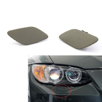 L+R For BMW 3-Series E92 E93 335i 328i Coupe Convertible PRE LCI cars Headlight Washer Cover Cap Lamp Flap Bumper Trim-2 Door image