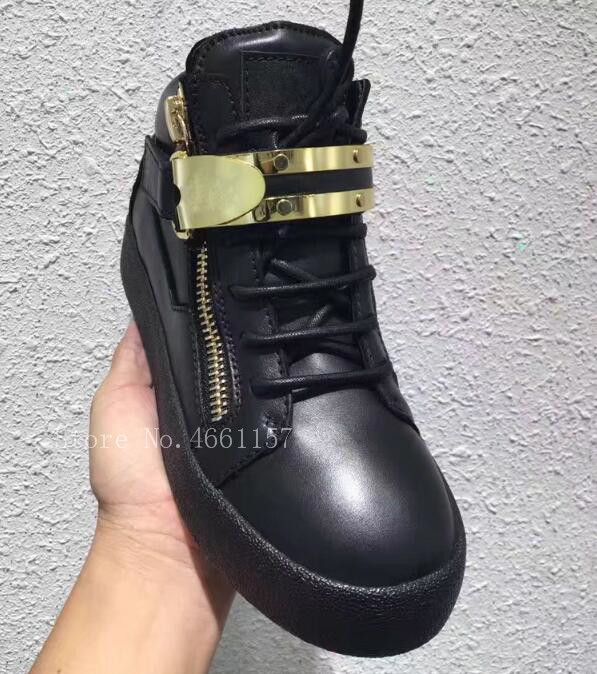 Zapatos Pic Hombres As Hombre top Negro Deporte Brillo Zapatillas Botas Casuales Metal Pic Cremallera Los Moda Patchwrok Alto De as Encaje TafOvUqwT