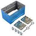 Stereo Car Audio Remontagem ISO 2DIN Gaiola de Metal Com Suportes de Instalação/Parafusos/Chaves # FD-1463