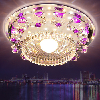 Modern palette Circle led crystal ceiling lamp home deco aisle corridor entrance  hallway glas ceiling lights fixture цена 2017