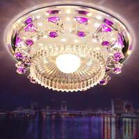 Moderne palette Kreis führte kristall decken lampe home deco gang korridor eingang flur glas decke lichter leuchte