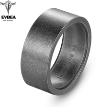 EVBEA Titanium Steel Viking Punk Gothic Antique Simple Ring Old Style for Men Jewelry Rock Roll Kpop Bikers punk style titanium steel circle ring for men