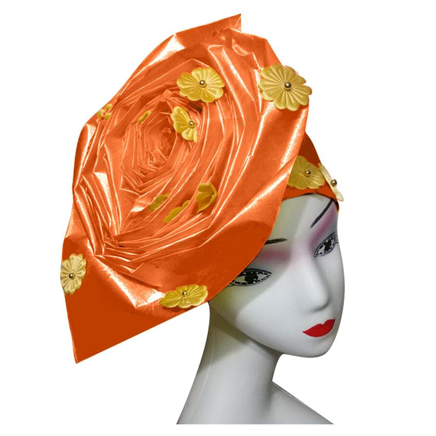 Auto gele nigerian gele headtie already made auto hele turban cap african aso ebi aso oke headtie 2018 (6)