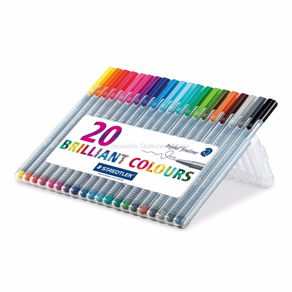 STAEDTLER 334 SB4 0.3mm 3 color Gel Pens set Fine Draw Point art Marker Pen  Multicolours Office genuine 20colors stabilo point 88 03 micron liner pen sketch marker set 0 4mm ultra fine micron pen draw liners art supplies