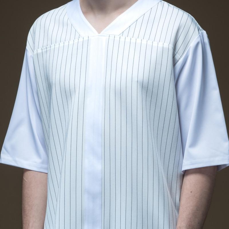 2019 Top Half Undertale Palace Linkin Park Pinli Plus New Summer Men's  Loose Stripe V-collar Sleeve T-shirt Tide B192311311
