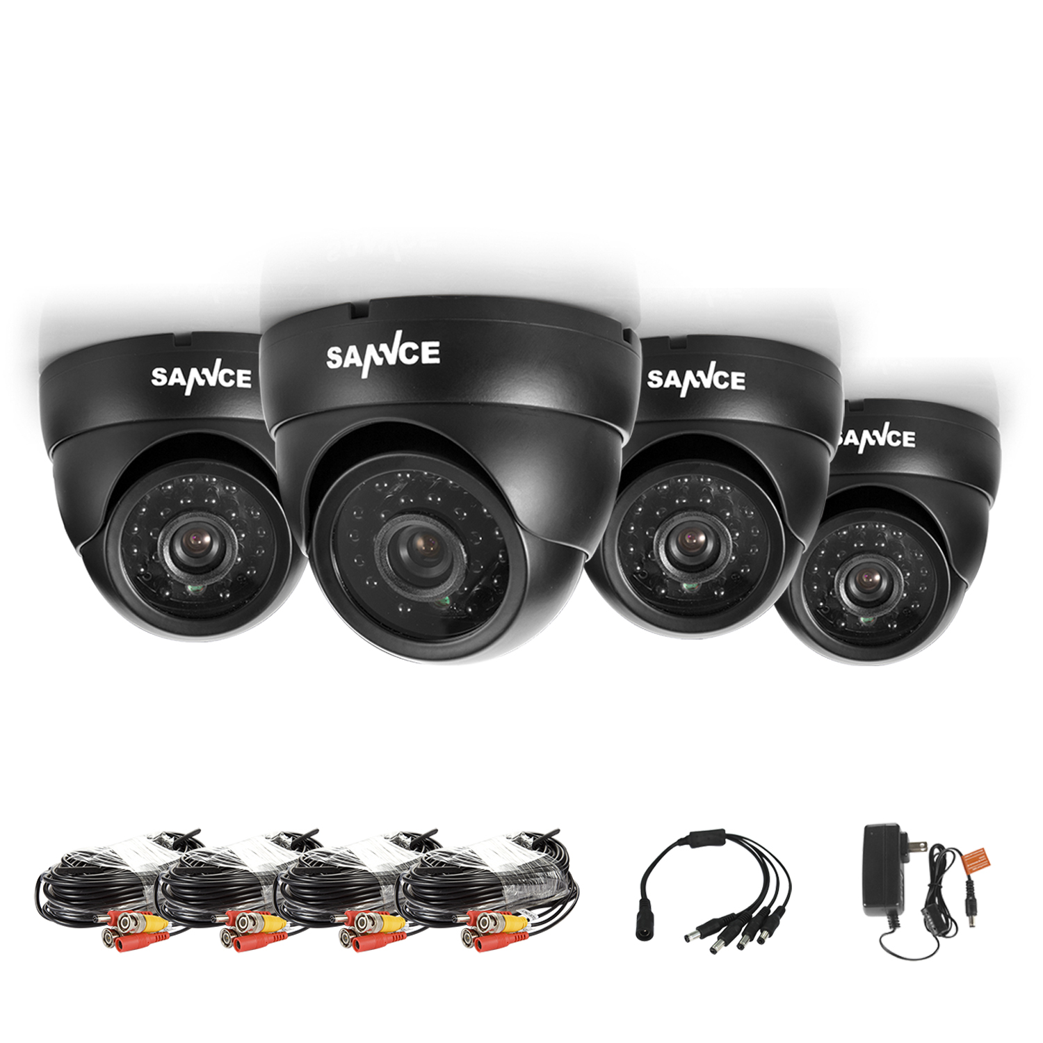 SANNCE 2/4CH 800TVL Bullet CCTV Camera Suite 1.0MP Waterproof IR-Cut Night Vision Camera For Surveillance System Kit 81BA
