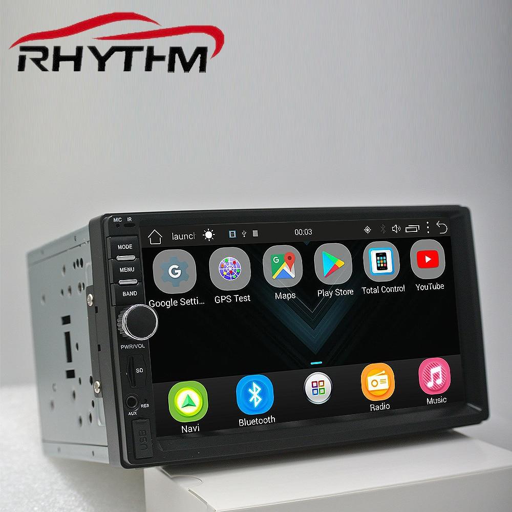 Auto radio 2 din autoradio gps navigation android 6.0 bluetooth double din multimédia lecteur universel 7 1024*600 le soutien dab