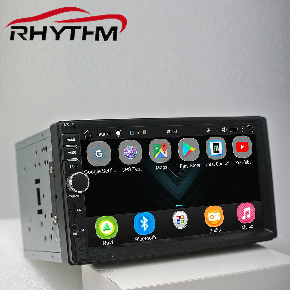 Auto radio 2din voiture stéréo gps navigation android bluetooth double din multimédia universel 7