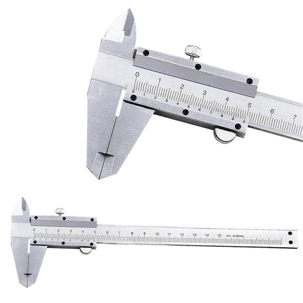 Штангенциркуль металлический, 6 дюймов, 0-150 мм, 0,02 мм