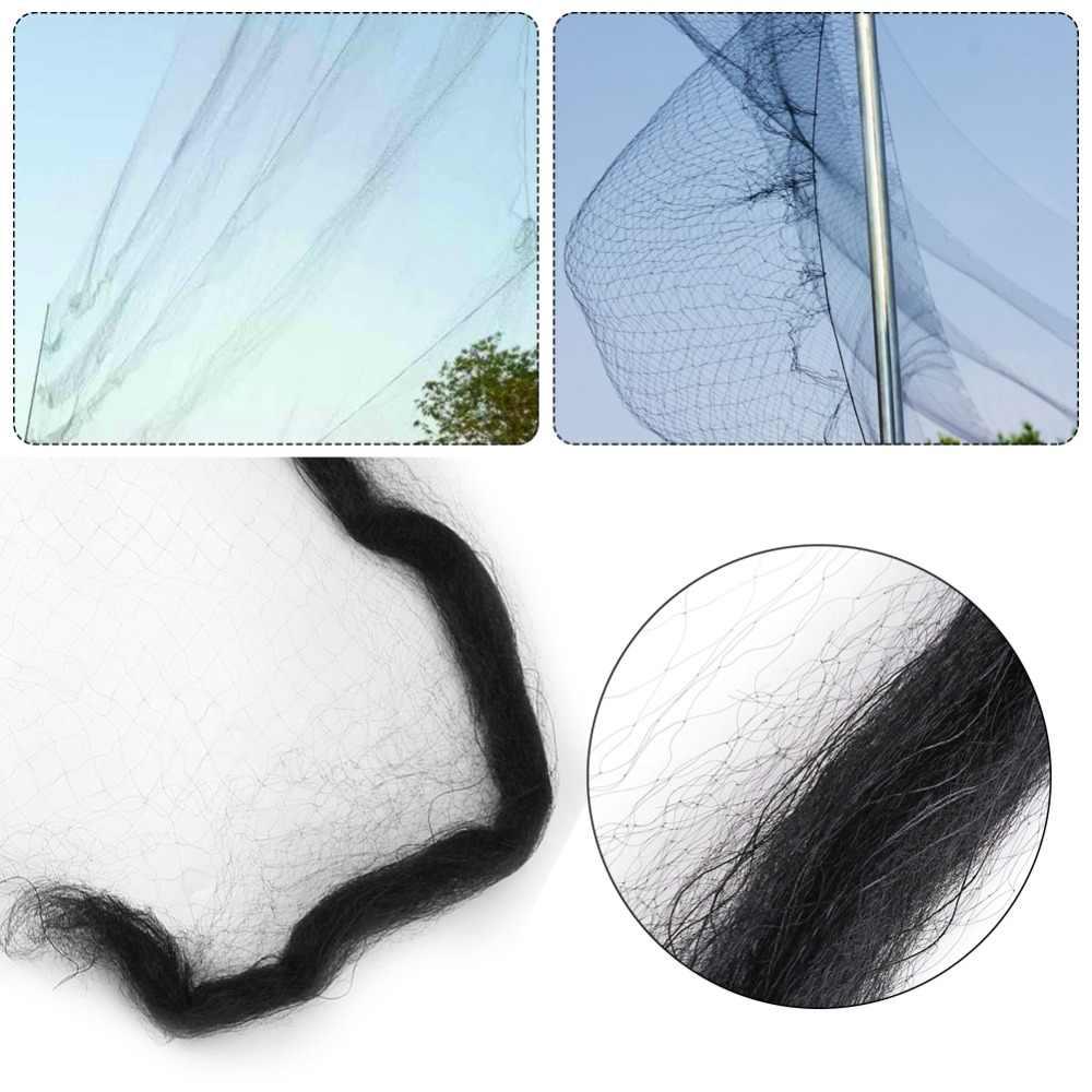 Black Anti Bird Mist Net Mesh protection Fruit Crop Garden  Catching Bird Net