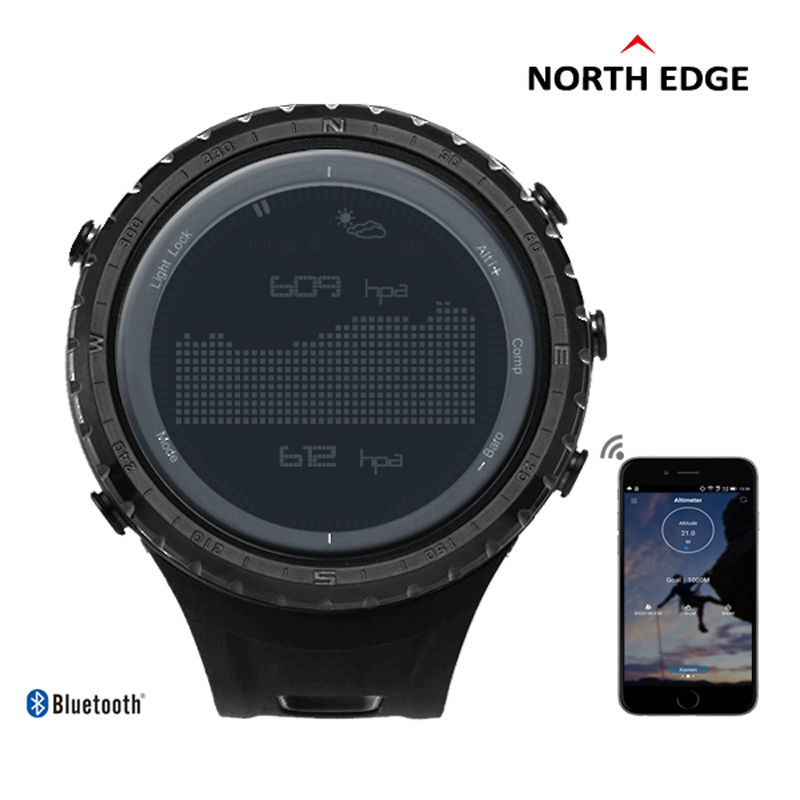 NORTHEDGE Men s Sport Digital font b Watch b font Men Military Bluetooth Call Reminder Altitude