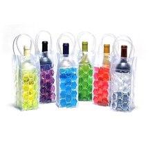 PVC Bierkühltasche Schnelle Eis Weinkühler Freien Eis Zipfel Picknick CoolSacks Weinkühler Kältemaschinen Gefrorene Tasche Flasche kühler