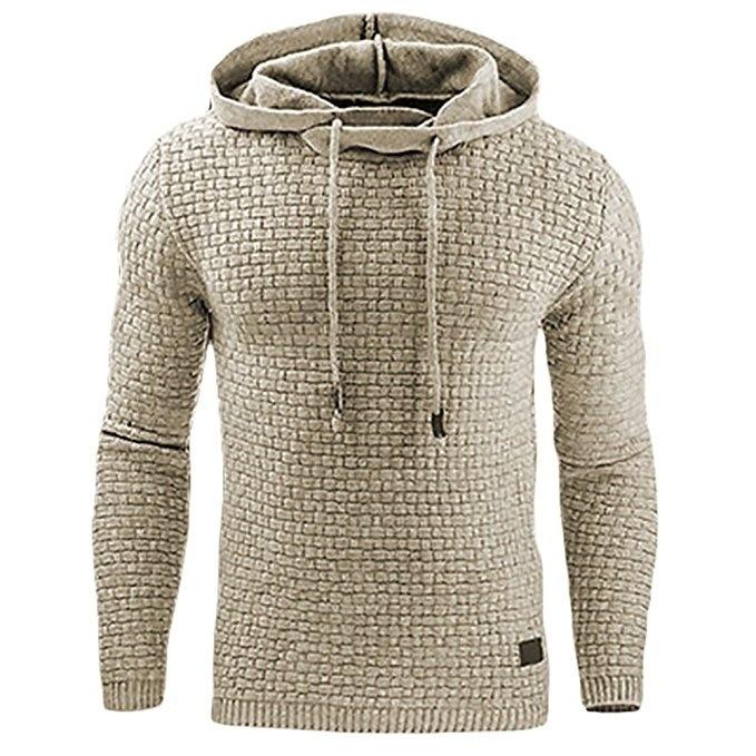 2017 Nieuwe Casual Hoodie Men'S Hot Koop Plaid Jacquard Hoodies Mode Militaire Hoody Stijl Lange Mouwen Mannen Sweatshirt 4XL