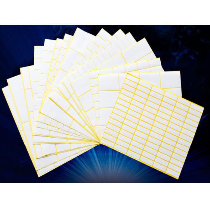 Different 35 Sizes White Small Sticker Labels Price Stickers Tags Square Blank Self Adhesive Stickers Great For Inkjet Printers