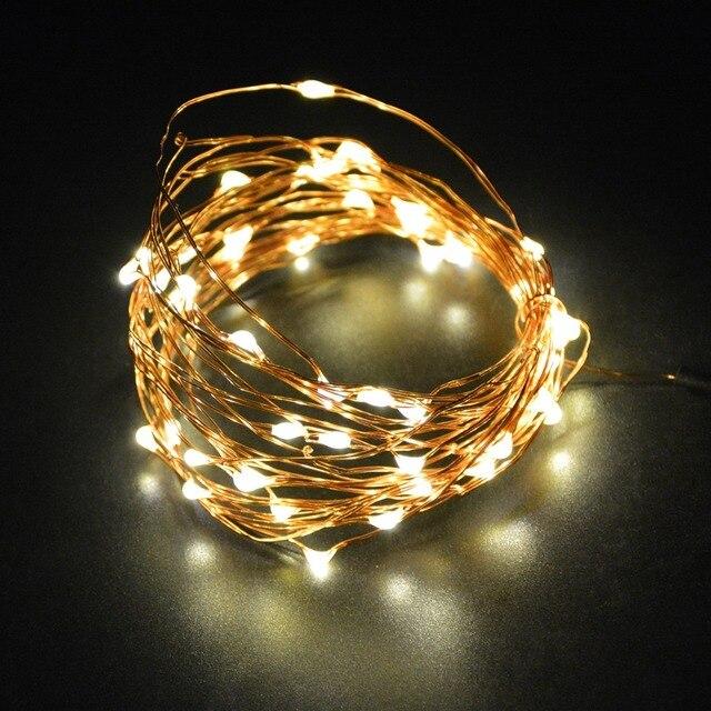 5 Mt 50 LED Kupferdraht String Licht für Glas Handwerk flasche Fee ...