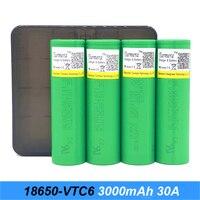 18650 VTC6 battery 3000mAh 3.7v 30A for mod box e cigarette 18650 batteries for screwdrivers with storage case j6