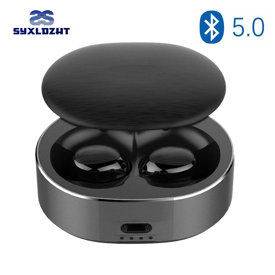 TWS אלחוטי Bluetooth אוזניות עבור טלפון ספורט מיני אמיתי אלחוטי אוזניות Bluetooth 5.0 אוזניות עם מיקרופון מגע בקרת Blutooth