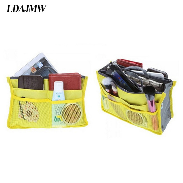 156a554dc7 LDAJMW Hot Multi-function Portable Double Zipper Cosmetics Storage Bag  Card