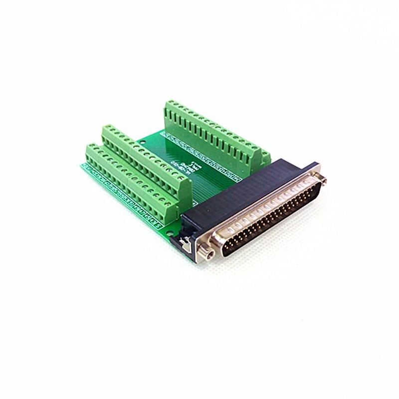 DB62 Male Breakout Board, D'SUB Header Breakout Board, Terminal Block DSUB Module. idc34 2x17 pins 0 1 male header breakout board terminal block connector